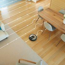 Pomocou vizuálnej lokalizácie upratuje celú plochu domácnosti