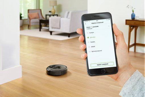 Určenie miestností na čistenie cez aplikáciu iRobot HOME